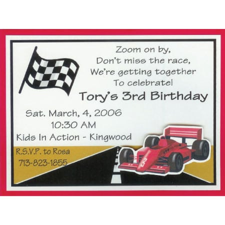 Tagrace Car Birthday Invitations