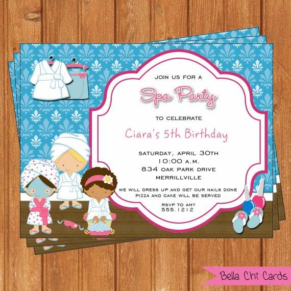 Tagspa Birthday Invitations For Girls