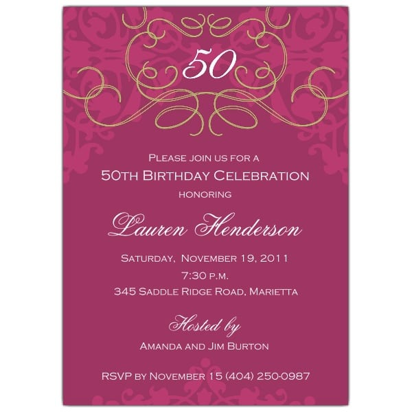 Tagsurprise 50th Wedding Invitation Templates Free