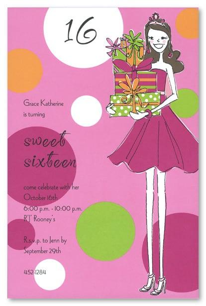 Tagsweet 16 Birthday Invitation