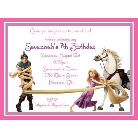 Tagtangled Birthday Invitations Printable
