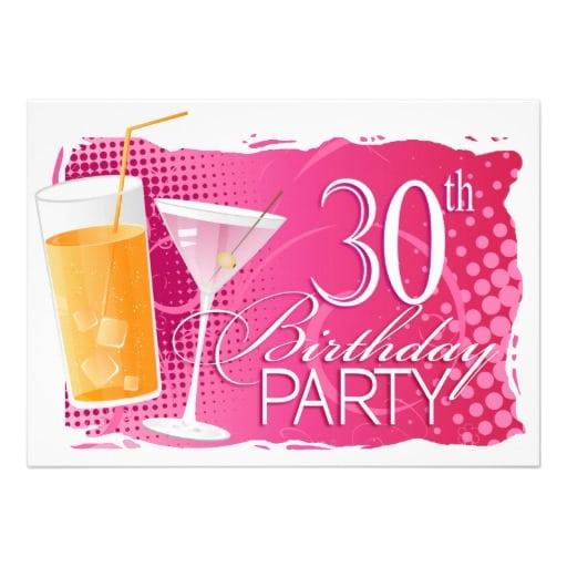 Tagtemplate 30th Invitation