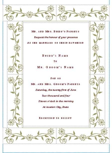 Tagwedding Invitation Templates Download Free