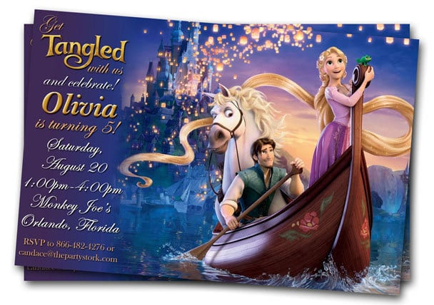 Tangled Birthday Invitation Free Printable
