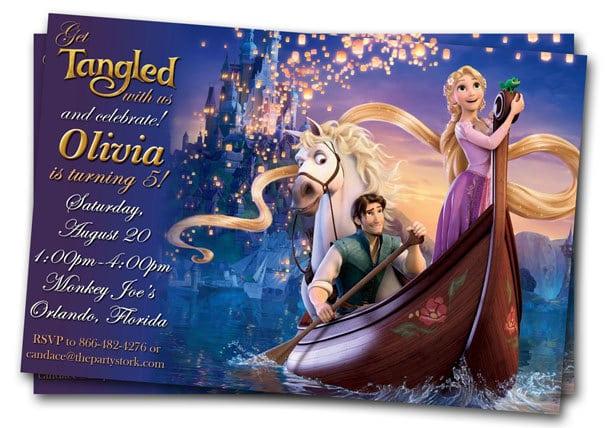 Tangled Birthday Invitations Printable Free