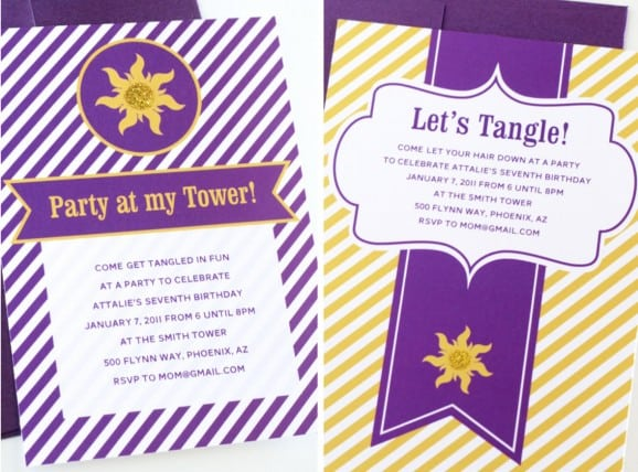 Tangled Birthday Invitations Template