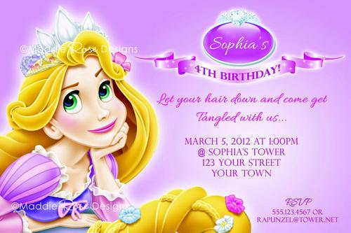 Tangled Birthday Party Invitations Template