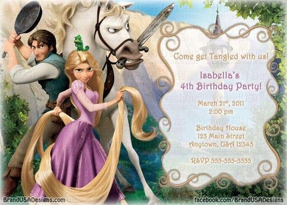 Tangled Picture Invitations