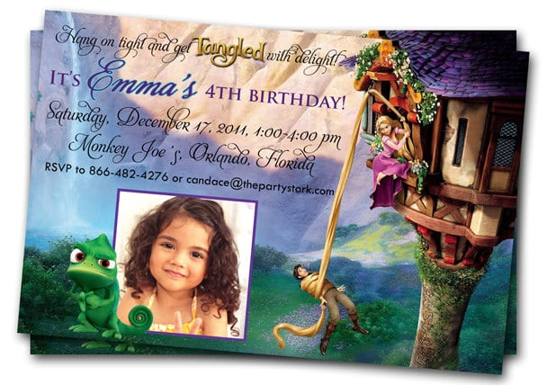 Tangled Party Invitation Wording