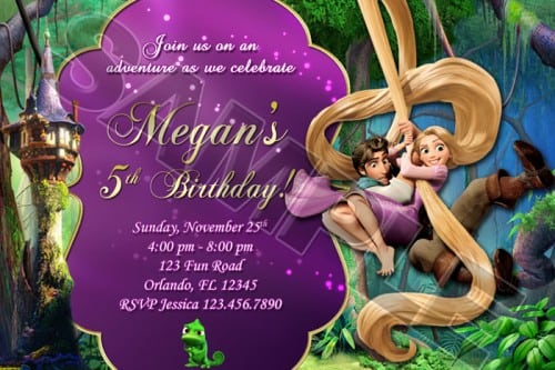 Tangled Party Invitations Printable Free