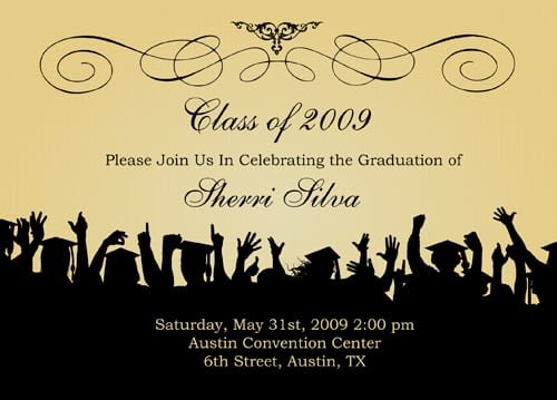 Template For Graduation Invitation Cards