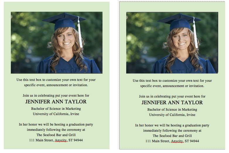 Template For Graduation Invitations In Word