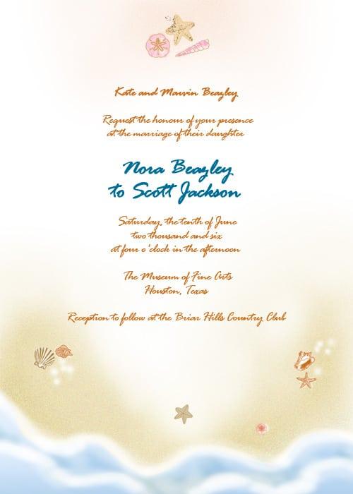 Template Wedding Invitation Beach Free