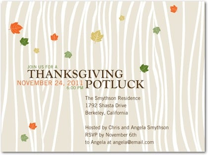 Thanksgiving invitation template stopboris Gallery
