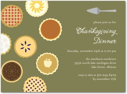 Thanksgiving Invitation Templates Potluck
