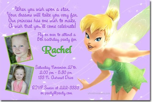 Tinkerbell Invitation Layout