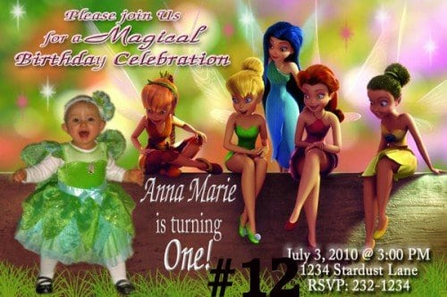 Tinkerbell Invitations Personalized