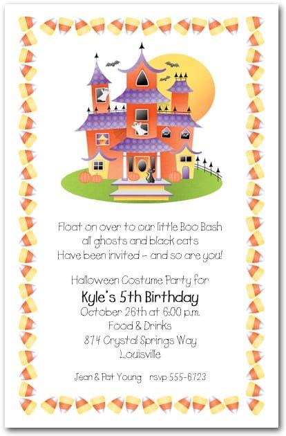 Toddler Birthday Halloween Invitations