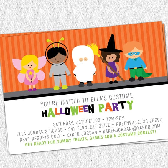 Toddler Halloween Birthday Party Invitations