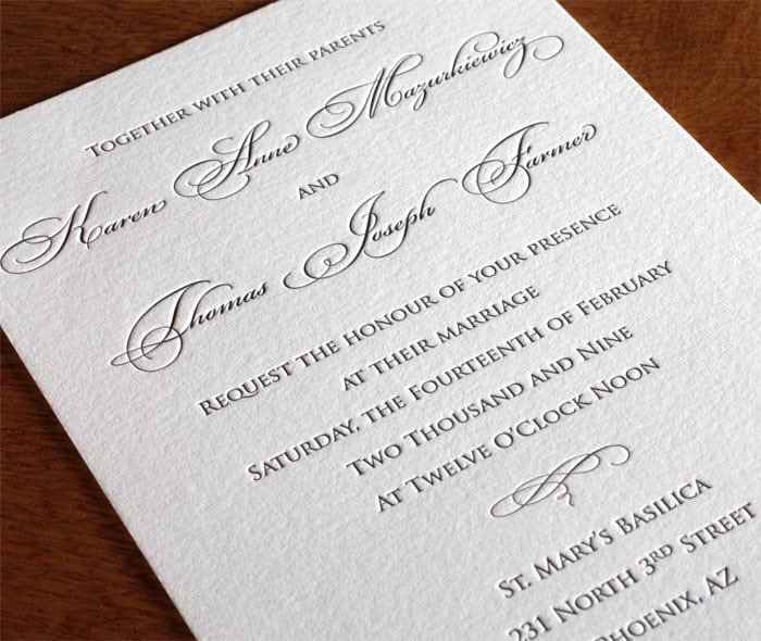 Traditional Invitation Samples