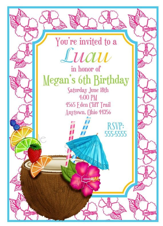 Tropical Invitations Printable Free