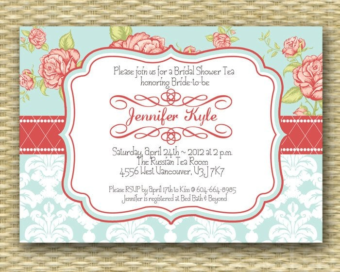 Tea Party Invitation Template  GangcraftNet