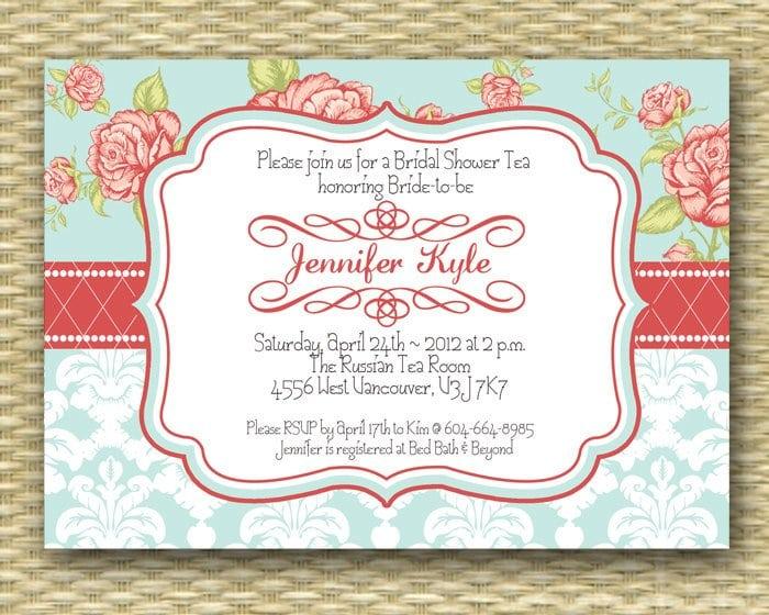 Vintage Tea Party Invitation Templates