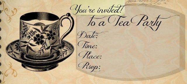 Vintage Tea Party Invitation Templates Free