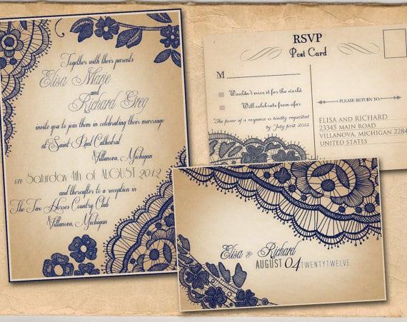 Vintage Wedding Invitation Sample