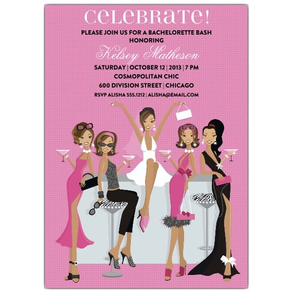 Wedding Bachelorette Invitations