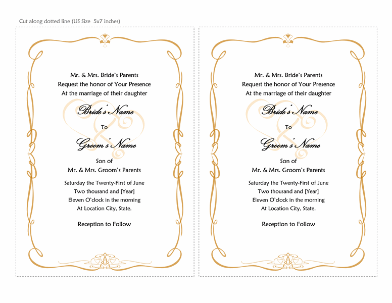 Wedding Invitations Templates For Word