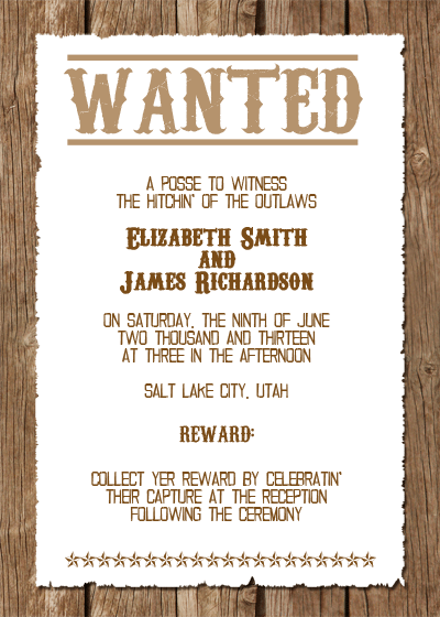 Western Wedding Invitation Templates Free