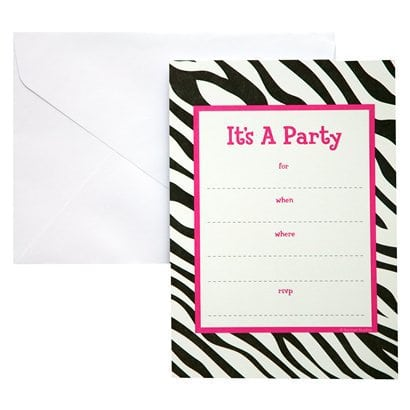 Zebra Party Invitations Printable Free