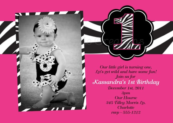 Zebra Print Birthday Invitations Walmart